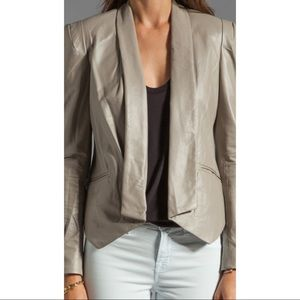 Rebecca Minkoff Leather Becky Jacket in Clay,  0